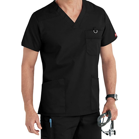 1ea578e082f Dickies EDS Signature Men's V-neck Scrub Tops | Uniform City