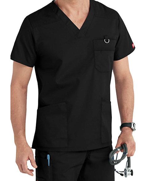 0fc1bf68b999f6 Dickies EDS Signature Men's V-neck Scrub Tops | Scrubs & Beyond