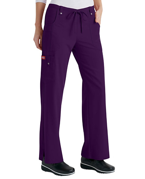 2821801f84e Dickies Xtreme Stretch Mid Rise Drawstring Cargo Scrub Pants | Scrubs &  Beyond