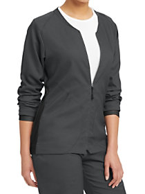 Zip Front Round Neck Jacket