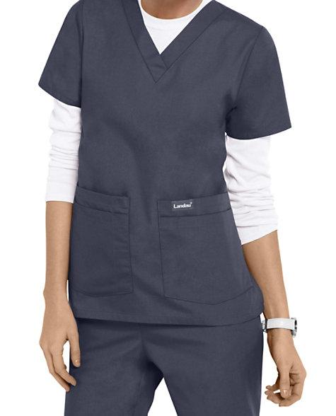 d310bf90176 Landau Essentials V-neck 4 Pocket Scrub Tops | Scrubs & Beyond