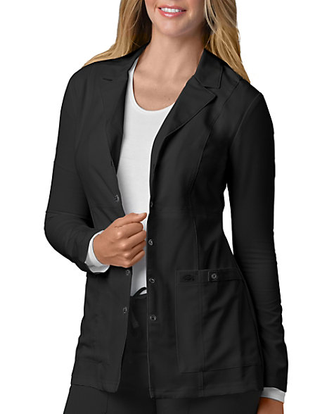 90546ae646f Dickies Xtreme Stretch 28 Inch Snap Front Lab Coats | Scrubs & Beyond