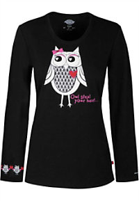 Dickies EDS Signature Owl Steal Your Heart Print Knit Underscrub