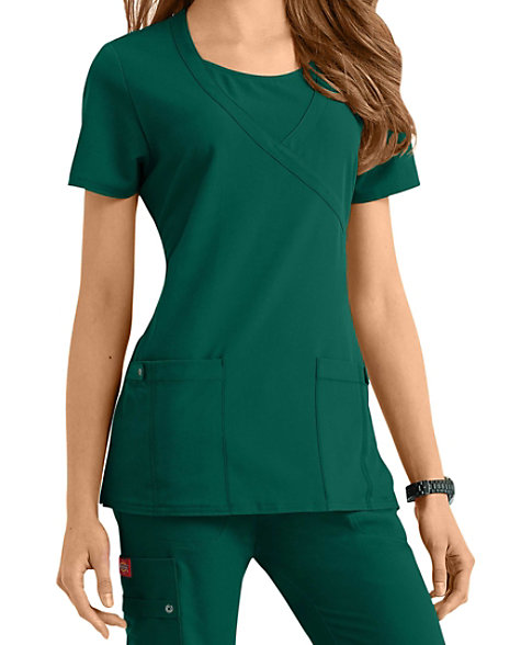 d0ef594f8d2 Dickies Xtreme Stretch Mock-wrap Scrub Tops | Scrubs & Beyond