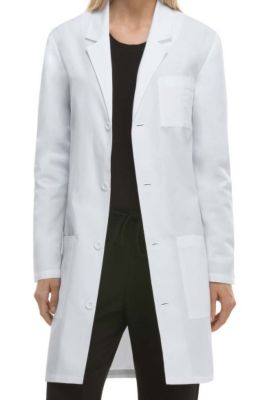 37 Inch Notched Lapel Lab Coat with Certainty Plus