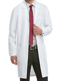 40 Inch Notched Lapel Lab Coat with Certainty Plus