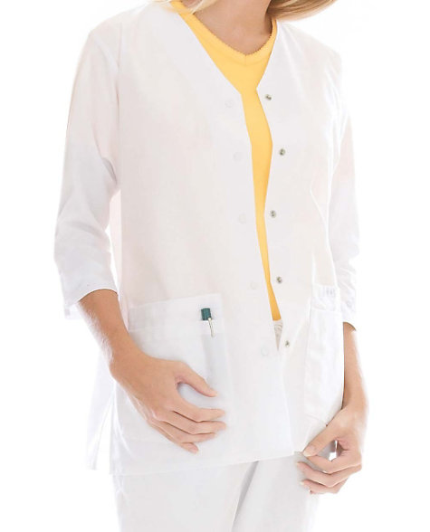 Landu Essentials Three Quarter Sleeve Scrub Jackets