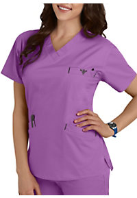 Med Couture Signature Classic V-neck Scrub Tops