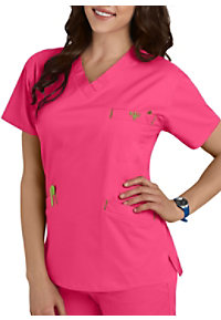 Med Couture Signature Classic V-Neck Scrub Top