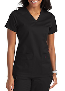 e0418dabad2 Med Couture Touch Kerri Shirttail Hem Vneck Scrub Top   Scrubs & Beyond