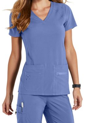 Med Couture Activate Refined V-Neck Scrub Top