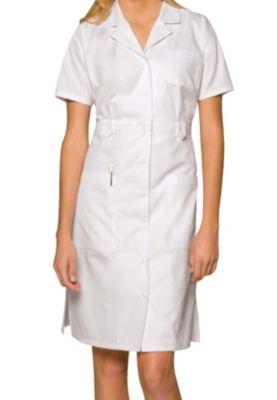 38 Inch Button Front Short Sleeve Dress