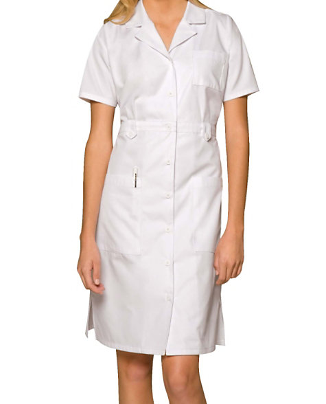 d54bb9a7c1181 Dickies 38 Inch Button Front Short Sleeve Dress | Scrubs & Beyond