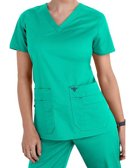7d18d89586f Med Couture Flex-it Knit Insert Scrub Tops | Scrubs & Beyond