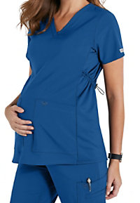 Med Couture Plus One Maternity V-neck Scrub Tops