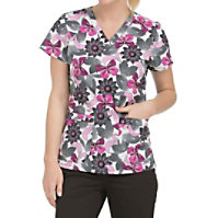 Med Couture MC2 Magical Mystery V-neck Print Tops
