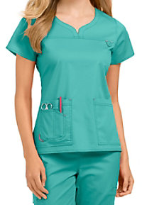 Med Couture MC2 Lexi Notch Neck Scrub Tops