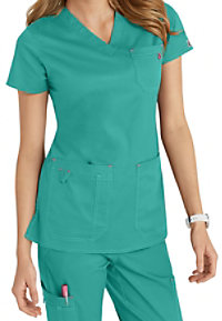 Med Couture MC2 Niki V-neck Solid Scrub Tops