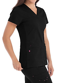 Med Couture MC2 Everyday V-neck Solid Scrub Tops