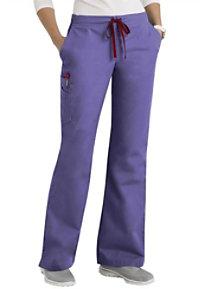 Scrubzone Red Women's Drawstring Scrub Pants