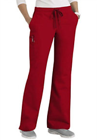 Scrubzone Red Women's Drawstring Scrub Pants