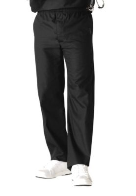 Zip Fly Elastic Waist Pants