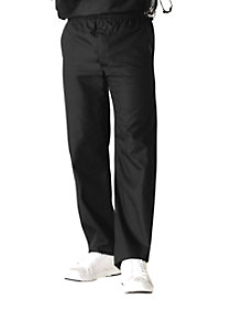 Zip Fly Elastic Waist Pants
