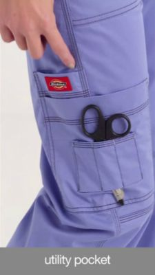 18b7b99e682 Product Video. prev. next. Product Video; Dickies Gen Flex Youtility 9- pocket Drawstring Cargo Scrub Pants; Dickies ...