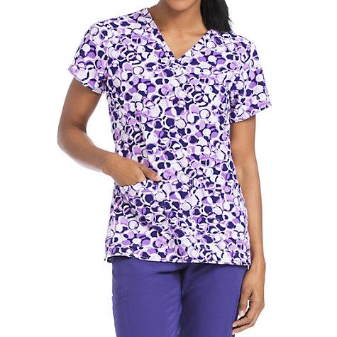 1121840cfe3 Med Couture Air Spheres Of Grape V-neck Print Scrub Tops | Uniform City