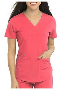 0f4e90b2353 See Details item #8579 · Med Couture Energy Serena Shirttail Hem V-neck  Scrub Top