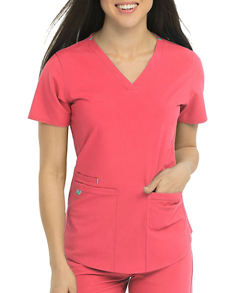 cd991d59775 Med Couture Energy Serena Shirttail Hem Vneck Scrub Top | Scrubs & Beyond