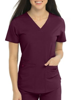 Med Couture Energy Serena Shirttail Hem V-neck Scrub Top
