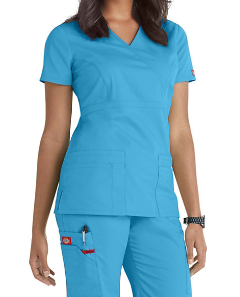 6db312ac67d Dickies EDS Signature Mock Wrap Scrub Tops | Scrubs & Beyond