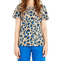 Dickies EDS Kitty Cat Camo Cut-out Neckline Tops
