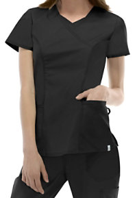 Dickies EDS Signature Stretch V-neck With Neck Insert Scrub Tops With Certainty