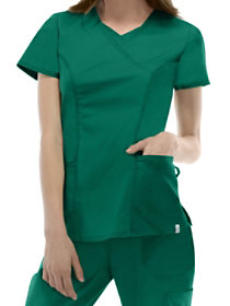 797b9d218e2 Dickies EDS Signature Stretch V-neck With Neck Insert Scrub Tops With  Certainty
