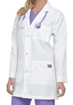 31 Inch Button Front Lab Coat