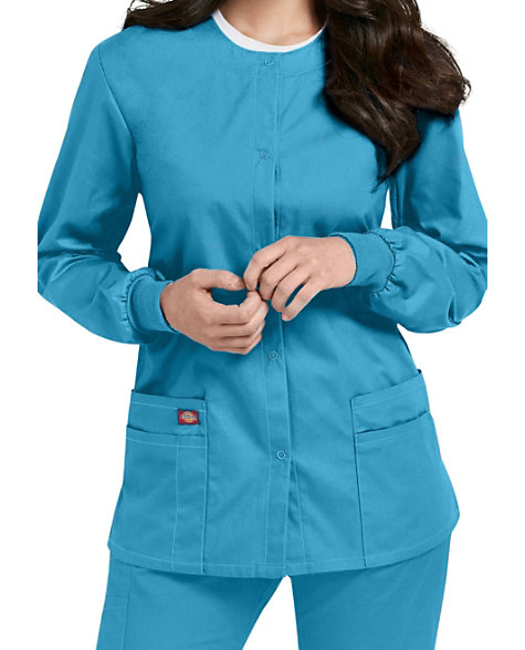 86028f00765 Dickies EDS Signature Snap Front Scrub Jackets | Scrubs & Beyond