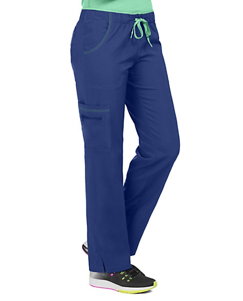 bc10b6ac561 Med Couture Activate Color Block Drawstring Scrub Pants | Scrubs & Beyond