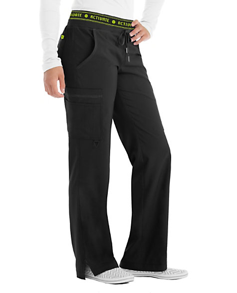 Med Couture Activate Flow Logo Waist Scrub Pants Scrubs
