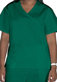 Life Essentials Mock Wrap Scrub Tops