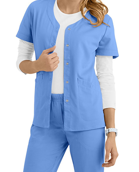 af3d2f97c2e Urbane Ultimate Megan Snap Front Short Sleeve Scrub Jackets | Scrubs &  Beyond