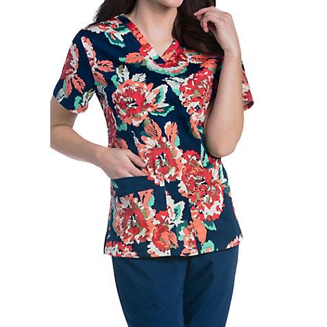 18a3cda3e96 Urbane Ultimate Harvest Moonflower V-neck Print Scrub Tops | Uniform ...
