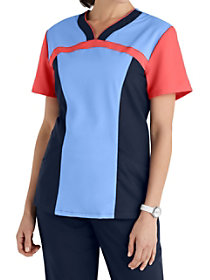 Color Block Sweetheart Neckline Top