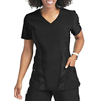 Urbane Performance Quick Cool Contrast Panel V-Neck Tops