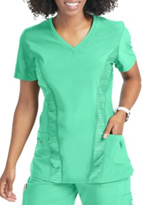 Urbane Performance Quick Cool Contrast Panel V-Neck Scrub Tops