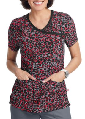 Purr-Fect Red Print Top