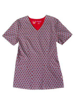 Round About Steel Print Top