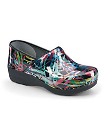 Multi Brushstroke Patent Nursing Clogs