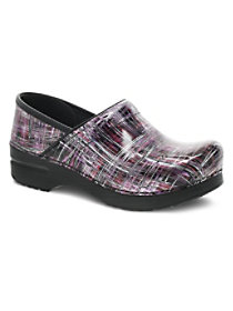 Crosshatch Patent Clogs